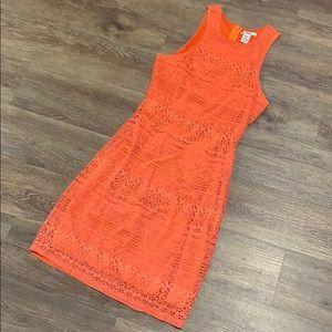 BarIII orange/coral dress